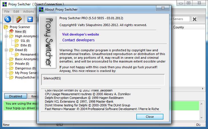 Особенности Proxy Switcher - Возможность изменения настроек прокси
