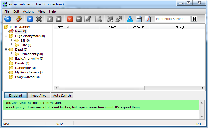 Or Proxy Switcher - это мгновенное изменение настроек прокси